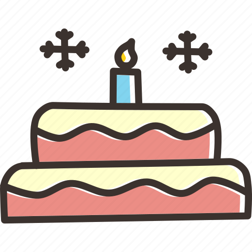 cake, candle, celebrate, christmas, new year icon