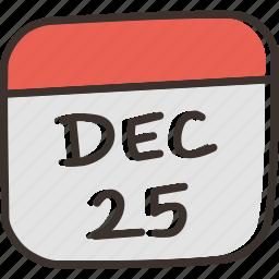 calendar, christmas, date, day, december, festival icon