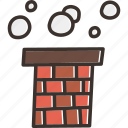 chimney, christmas, claus, gift, present, santa, smoke icon
