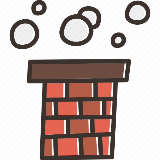 chimney, christmas, claus, gift, present, santa, smoke icon