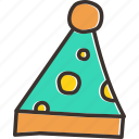 birthday, cap, christmas, clown, fun, merry, party icon