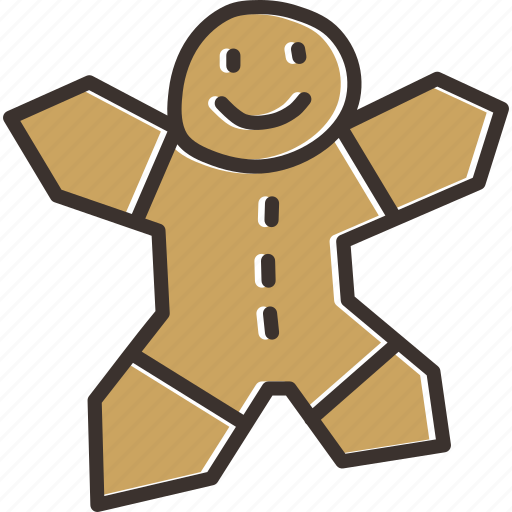 cake, celebration, christmas, cookie, gingerbread, holiday, man icon