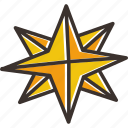 christmas, northern, pole, shiny, star, twinkle icon