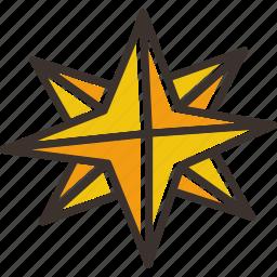 christmas, northern, pole, shine, shiny, star, twinkle icon
