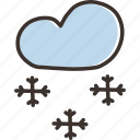 christmas, cold, december, new year, snow, snowfall, winter icon