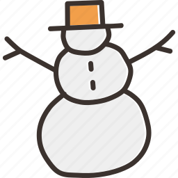 christmas, holiday, new year, snow, snowball, snowman, winter icon
