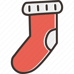christmas, cold, gift, socks, wear, winter icon