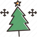 christmas, december, snow, snowflake, star, tree, winter icon