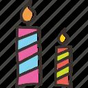 birthday, candle, christmas, light icon