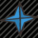 christmas, pole, star, xmas icon