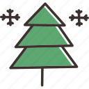 christmas, new year, snow, star, tree, winter icon