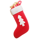 stocking, gifts, presents, christmas icon