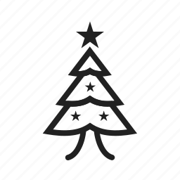christmas, christmas tree, decoration, new year, snow, winter, xmas icon