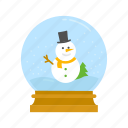 snow, snow globe, snow man, winter icon