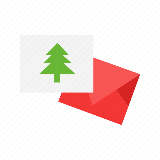card, christmas card, greeting card, letter icon
