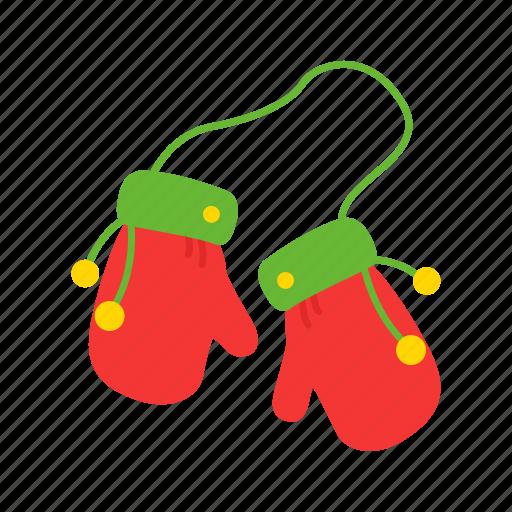 christmas, gloves, santa cloves, winter icon