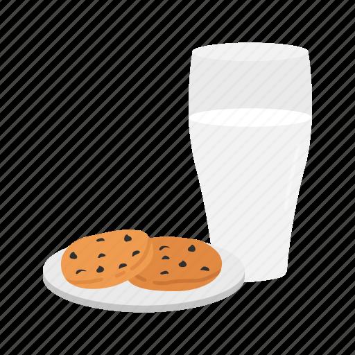 cookies, cookies & milk, milk, milk and cookies icon