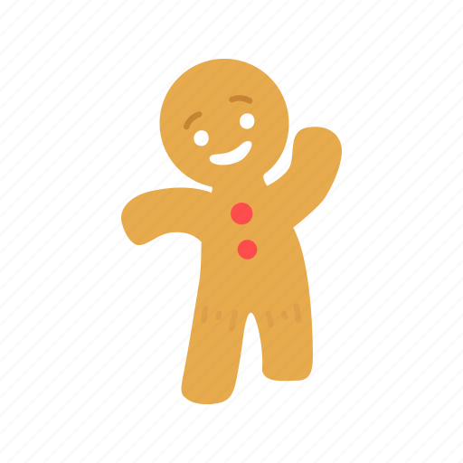 bake bread, brownies, cookie, gingerbread man icon
