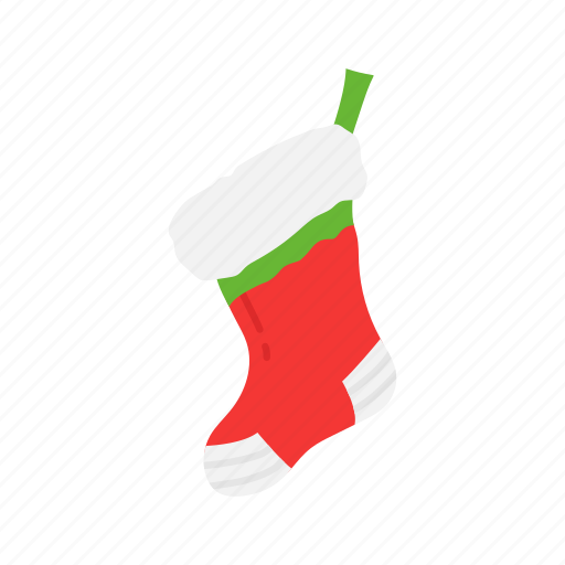 christmas, gifts, santa claus, stocking icon