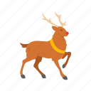 deer, reindeer, rudolph, sleigh