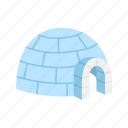 ice house, igloo, shelter, snow fort icon