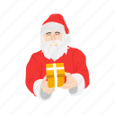christmas, gifts, presents, santa claus icon