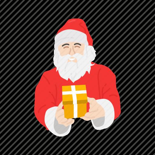 christmas, gifts, presents, santa claus icon