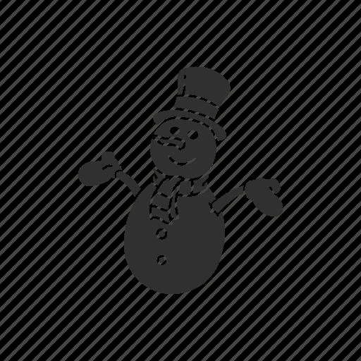 christmas, frosty the snowman, snow man, winter icon