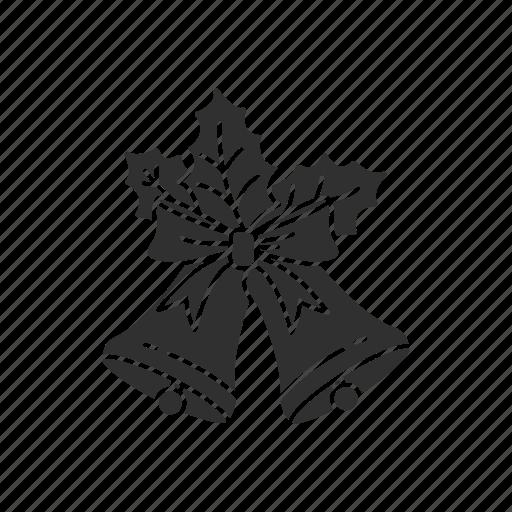 christmas, mistletoe, ornament, ribbon icon
