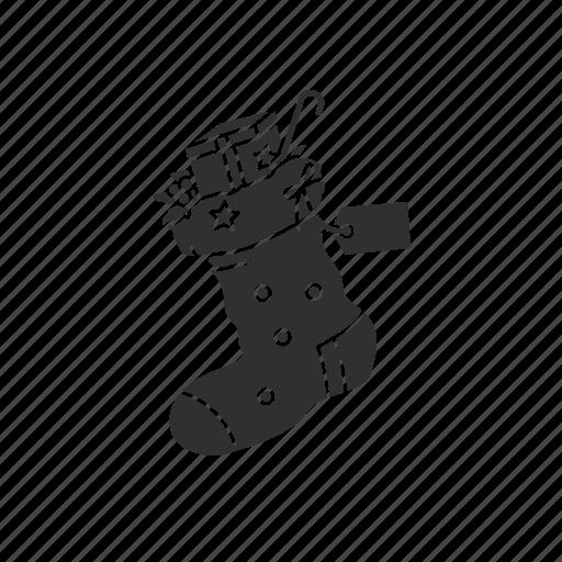 christmas, christmas socks, gifts, socks icon
