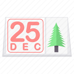 calendar, christmas, day, december, festival, month, twenty fifth icon