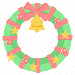 bell, christmas, decoration, jingle bell, party, santa icon