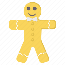 biscuit, character, christmas, cookie, happy, merry icon