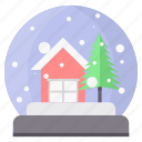 christmas, church, home, house, santa, tree icon