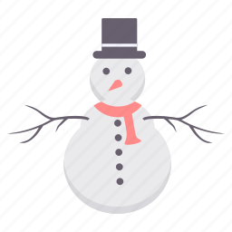 celebration, christmas, decoration, hat, party, snowman, xmas icon