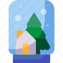 gift, snow globe, christmas, winter