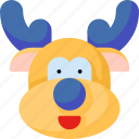 animal, reindeer, avatar, christmas, winter