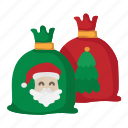 sack, bag, gift, santa, claus, christmas, xmas