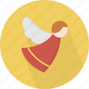 angel, christmas, circle, december, holiday, winter, xmas icon