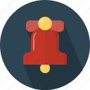 bell, christmas, circle, december, holiday, winter, xmas icon