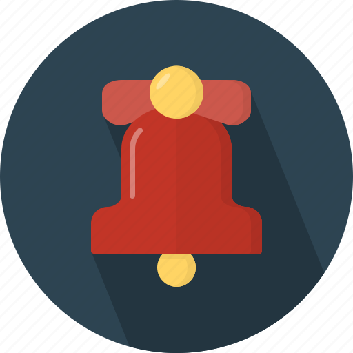 Bell, christmas, circle, december, holiday, winter, xmas icon - Download on Iconfinder