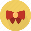 bow, christmas, circle, december, holiday, winter, xmas icon