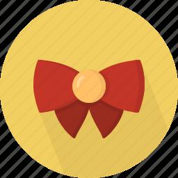 bow, christmas, circle, december, holiday, winter, xmas icon
