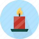 candle, christmas, circle, december, holiday, light, winter, xmas icon