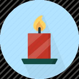 candle, christmas, circle, december, holiday, light, winter, xmas icon