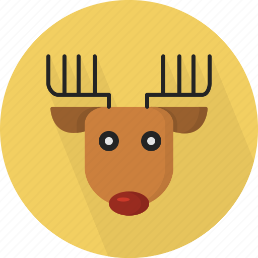 animal, christmas, circle, december, deer, holiday, winter, xmas icon