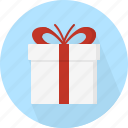 box, christmas, circle, december, gift, holiday, present, winter, xmas icon