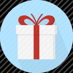box, christmas, circle, december, gift, holiday, present, winter, xmas icon