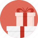 box, christmas, circle, december, gift, holiday, presents, winter, xmas icon