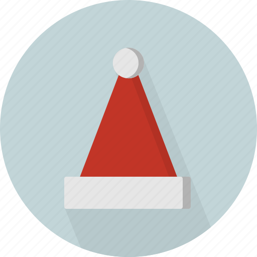 christmas, circle, december, hat, holiday, red, winter, xmas icon